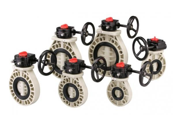 BUTTERFLY VALVE GEAR OPEARATED FULL FLANGED TYPE